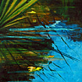 Floating Gold On Reflected Blue by Suzanne McKee