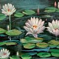 Floating Lillies by Sai Shyamala Ramanand
