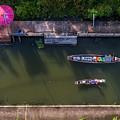 Floating Market Aerial View by Pradeep Raja PRINTS