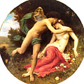 Flora And Zephyr 1875 by William Bouguereau