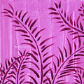 Flora Fauna Tropical Abstract Leaves Painting Magenta Splash By Megan Duncanson by Megan Duncanson