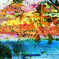 Rustic Landscape Abstract  D2131716 by Mas Art Studio