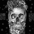 Floral Beard Skull 3 by Bekim Art