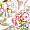 Floral Bouquets Pink Roses  by Catherine Lott