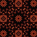 Floral Fire Tapestry by M E Cieplinski