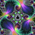 Floral Fractal Art Jewel Tones Vertical by Matthias Hauser