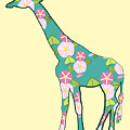 Floral Giraffe by MM Anderson