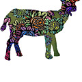 Floral Goat by Kaylin Watchorn