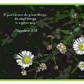 Floral Great Way Quote by Joan  Minchak