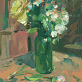 Floral Green Vase by Mike Kirschel