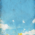 Floral In Blue Sky And Cloud by Setsiri Silapasuwanchai