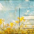Floral In Blue Sky Postcard by Setsiri Silapasuwanchai