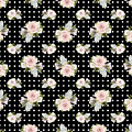 Floral Rose Cluster W Dot Bedding Home Decor Art by Audrey Jeanne Roberts
