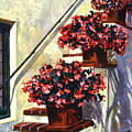 Floral Staircase by David Lloyd Glover