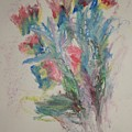 Floral Study In Pastels B by Edward Wolverton