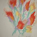 Floral Study In Pastels Cc by Edward Wolverton