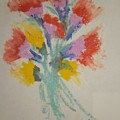 Floral Study In Pastels X by Edward Wolverton