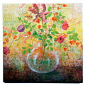 Floral With Eastern Tapestry by Lynda McLaughlin