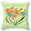 Floral Wonder  Pillow by Iris Gelbart