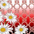 Floral Zellige Design 4 by Heidi Paschkewitz