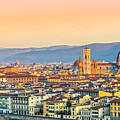 Florence At Sunrise - Tuscany - Italy by Luciano Mortula