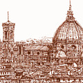 Florence Duomo In Red by Adendorff Design