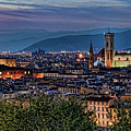 Florence In The Evening by Nancy Morgantini