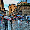 Florence In The Rain by Nancy Morgantini