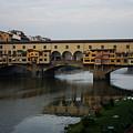 Florence Italy - An Autumn Day At Ponte Vecchio by Georgia Mizuleva