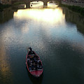 Florence Italy Arno River At Sunset by Gregory Dyer