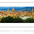 Florence, Italy Panoramic Poster by Mike Nellums