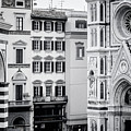 Florence Italy View Bw by Joan Carroll