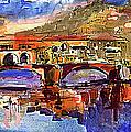 Florence Ponte Vecchio Merchant Bridge by Ginette Callaway