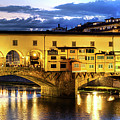 Florence - Ponte Vecchio Sunset From The Oltrarno by Weston Westmoreland