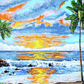 Florida Keys Beach Sunset by John Moon