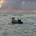 Florida Lobstermen At Dawn by Allan  Hughes