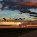 Florida Sunset Winding Road 2 by Ken Figurski