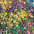 Flower Bed Abstract by Go Van Kampen