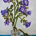 Flower  Bluebells Original Oil Painting by Natalja Picugina