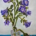 Flower  Bluebells Original Oil Painting by Natalja Picugina