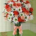 Flower Bouquet Creations Catus 1 No. 1 by Gert J Rheeders
