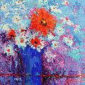 Flower Bouquet Modern Impressionistic Art Palette Knife Work by Patricia Awapara