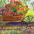 Flower Cart by Katherine  Berlin