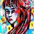 Flower Girl Portrait  by Hae Kim