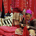 Flower Hmong Fabric Stall by Rick Piper Photography