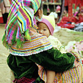 Flower Hmong Mother And Baby 02 by Rick Piper Photography