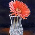 Flower In Crystal Vase by Michael Beckett