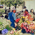 Flower Market - Cuenca - Ecuador by Julia Springer