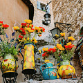 Flower Pots In Provencal Town by Alexandre Rotenberg