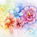 Flower Power Watercolor by Olga Shvartsur